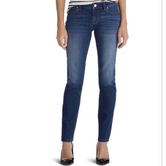 White House Black Market Jeans Blanc Size 14 Dark Blue NEW Jeans